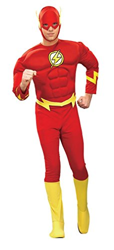 The Flash DC Comics Super Hero Muscle Chest Adult Men's Costume (Medium/Red)