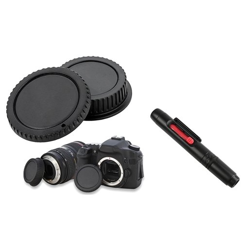 eForCity Compatible with Canon Digital Rebel X/XS/Xsi/XT/Xti Camera Body + Rear lens Cover Cap + Black Camera Lens Cleaning Pen Kit