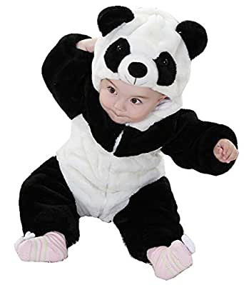 Unisex-baby Winter Flannel Panda Onesie Outfits Suit