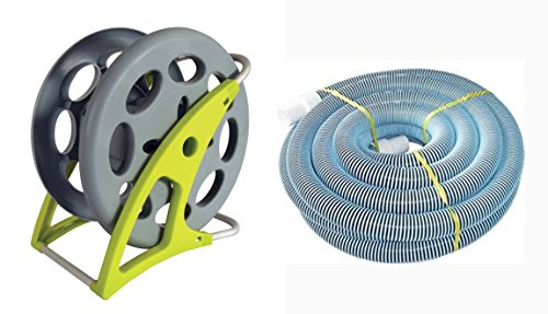 Kokido Geos Portable Swimming Pool Vacuum Hose Storage Reel With 42Ft Hose front-132199