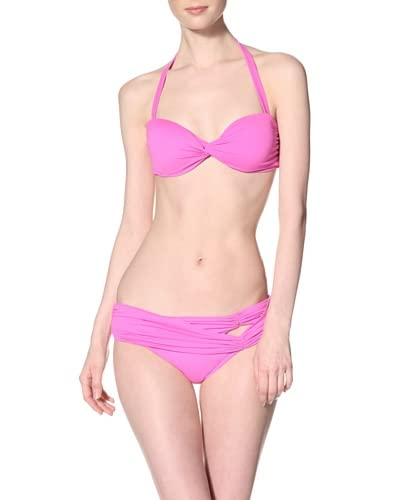 diNeila Brazil Women's Twist Halter & Strappy Hipster Bikini Set