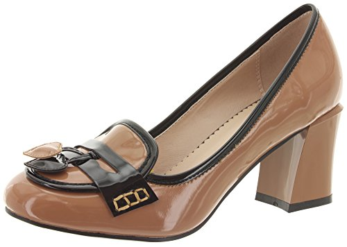 Dancing Days, Scarpe col tacco donna, Marrone (Praline-Black), 37