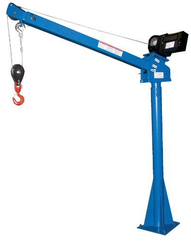 Bear Claw Power Lift Jib Crane for objects only, no personnel.; Operation: 12V DC; Capacity (LBS): 2,000; Boom Reach: 40