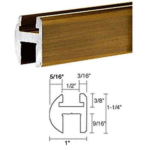 "C.R. Laurence Sdh980Abrsext Crl Antique Brass 98"" Deluxe Shower Door Header Only front-1061631"