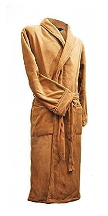 Lloyd Attree & Smith - Robe de Chambre en Maille Polaire - Homme - Camel (XL)