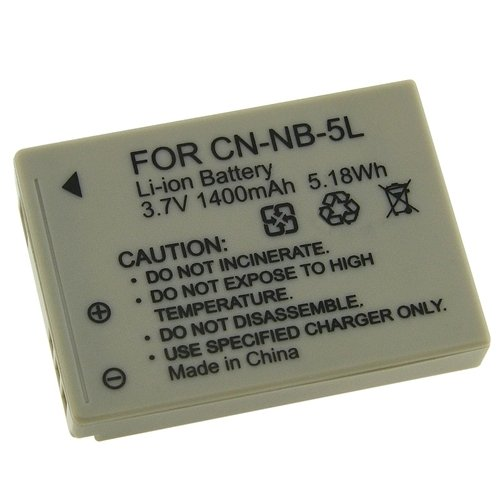 eForCity Replacement Canon NB-5L Compatible Li-Ion Battery From eForCity