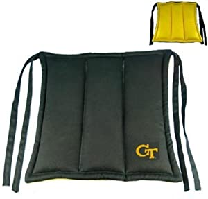 Georgia Tech Yellow Jackets Chair Cushion from Traditions Artglass Studios