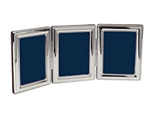 Cunill Silver Beaded Triple Frame for 4 by 6-Inch Photographs, Sterling Silver