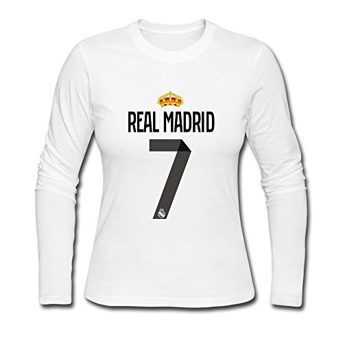 newest a888f de225 FUNSHIN Women's Real Madrid CF Cristiano Ronaldo #7 Long ...