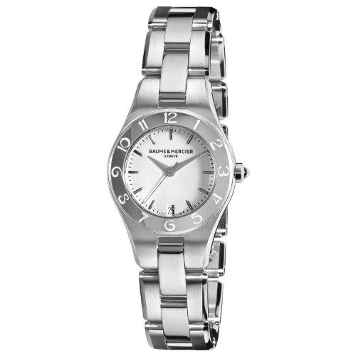 Baume & Mercier Women's 10009 Linea Silver Dial Stainless Steel Watch