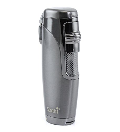 Scorch Torch Elegant Triple Jet Flame Cigar Torch Lighter Butane Refillable