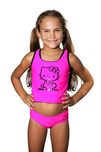 Hello Kitty Bows Tankini - Little Girl (2T, Pink) front-898896