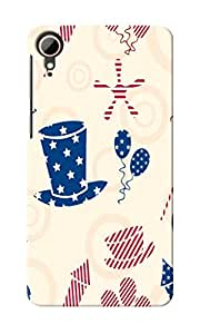 KnapCase American Abstract Designer 3D Printed Case Cover For HTC Desire 828