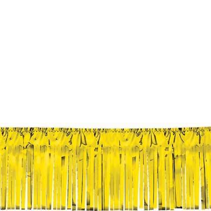 "Amscan Gold Metallic Table Fringe 20' Long 15"" Wide"