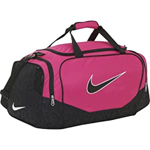 NIKE Brasilia 5 Medium Duffle Grip Bag, Pink/Black: Amazon