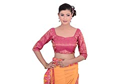Inblue Fashions Hot Pink Brocade Blouse