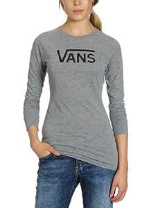 Vans Damen T Shirt Allegiance Long Sleeve, gray heather, L, VNX36RD