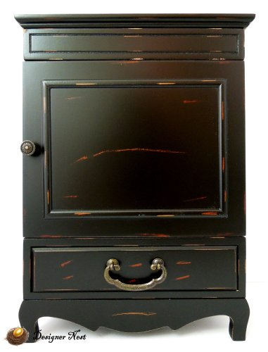 Dark Wood Jewelry Armoire front-1038534