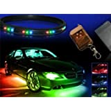 ZHOL® 7-colors LED Undercar Neon Strip Underglow Underbody Under Car Body Glow Light Kit