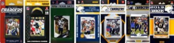 NFL San Diego Chargers 6 Different Licensed Trading Card Team Sets by C&I Collectables