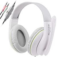 SADES SA701 3.5mm Stereo Headphones Headband PC Gaming Headset With High Sensitivity Microphone Volume Control...