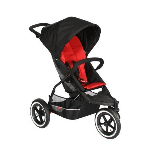 Phil&Teds Explorer Inline Stroller, Red