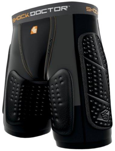 Shock Doctor Reflex Ultra - Pantaloncini Moto Short Lite, nero (nero), M