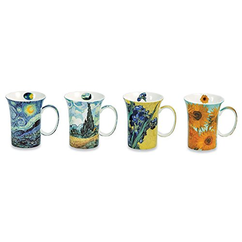 Cool Wedding Gifts Amazon : Van Gogh Coffee Mugs In Gift BoxBone China10 Oz CupsSet ...