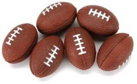 Package of 24 Mini Foam Footballs for Parties, Decorating, and Crafting from SteelerMania