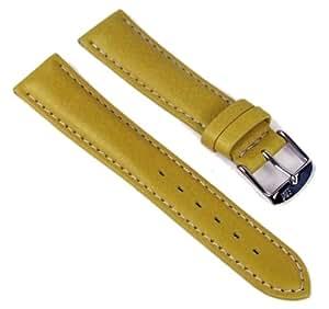 Morellato Golf Vitello Aqua Ersatzband Uhrarmband Kalbsleder Gelb 20mm