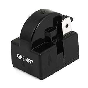 uxcell 4 7 ohm 1 pin refrigerator ptc starter. Black Bedroom Furniture Sets. Home Design Ideas
