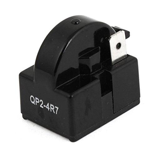 Black Plastic Housing 4.7 Ohm 1 Pin Refrigerator Ptc Starter Relay front-166457