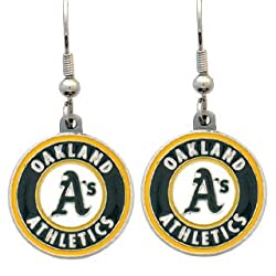 Oakland Athletics Dangle Earrings - MLB Baseball Fan Shop Sports Team Merchandise