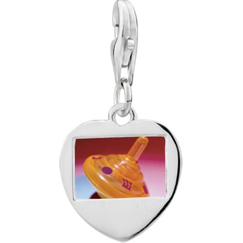 Pugster 925 Sterling Silver Plastic Orange Dreidel