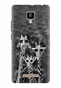 Noise Designer Printed Case / Cover for Lava A48 / Patterns & Ethnic / Giraffes Design
