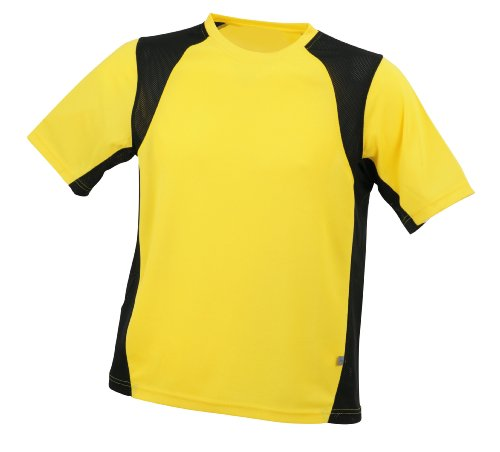 James & Nicholson Men's Shirt Running T - Yellow, XL