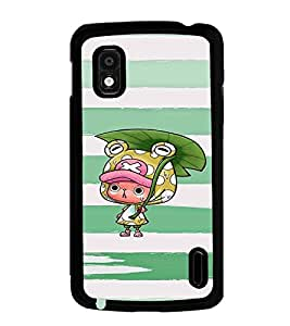 Fuson Premium Green Cartoon Metal Printed with Hard Plastic Back Case Cover for LG Google Nexus 4 E960