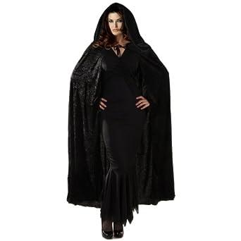 """68"""" Velvet Hooded Cape Costume Accessory"""