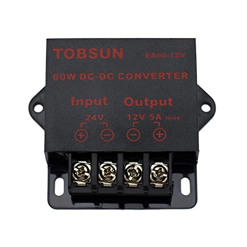 EPBOWPT DC 24V to 12V 5A 60W Converter Step Down Regulator Module for Car LED Project LED Light LED Strip Copper Strings DC Voltage Transformer (Voltage Regulator 5a compare prices)