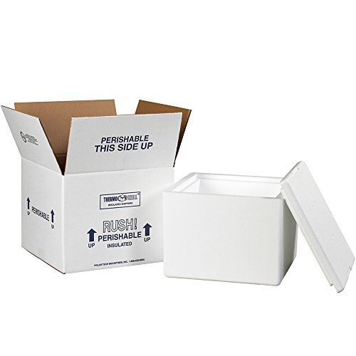 Aviditi 214C Insulated Shipping Containers, 9 1/2″L x 9 1/2″W x 7″D