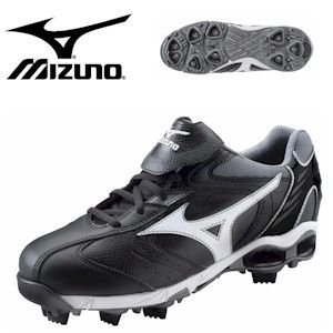 Buy Mizuno 9-Spike Double Play + FP Ladies Fast Pitch Softball Cleats (Black White) 6 by Mizuno