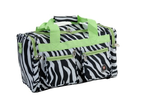 Rockland Luggage 19 inch Tote Bag, Lime Zebra, One Size