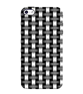 Ifasho Modern Art Design Animated Cloth Pattern Of Black And White Bamboo Style Back Case Cover For Apple Iphone 4