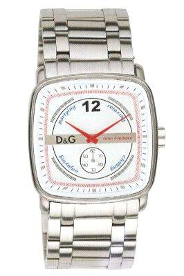 D&G Dolce&Gabbana DW0054 - Reloj 0 de mujer con correa de acero inoxidable plateada