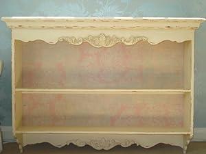 shabby chic wall shelf unit cream wall shelves. Black Bedroom Furniture Sets. Home Design Ideas