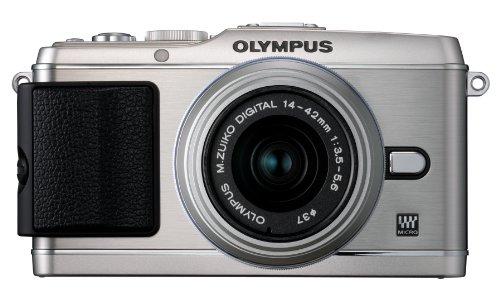 Olympus V204031SU000 PEN E-P3 12.3 MP Interchangeable Lens Digital Camera with MSC M. Zuiko Digital ED 14-42 mm II R f3.5/5.6 Zoom Lens (Silver)