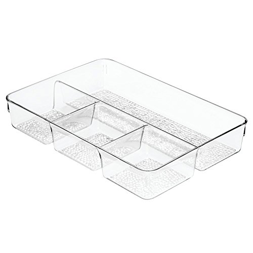 InterDesign Rain Cosmetic Drawer Organizer Tray for Vanity Cabinet to Hold Makeup, Beauty Products - Clear (Drawer Organizer Clear compare prices)