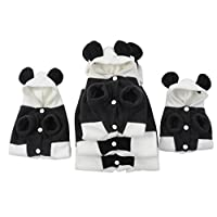 Cute Fleece Panda Clothes Warm Coat Costume Outwear Apparel for Pet Dog Cat Plus Size