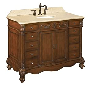 inch depth by 36 inch height single basin bathroom vanity dark cherry