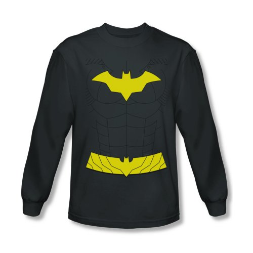 Batman New Batgirl Costume Men's Charcoal Long Sleeve T-Shirt